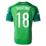 Nigeria 2014 BABATUNDE Jersey de Futbol Local