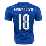 Italy 2016 MONTOLIVO Home Soccer Jersey