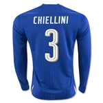 Italy 2016 CHIELLINI LS Home Soccer Jersey