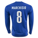 Italy 2016 MARCHISIO LS Home Soccer Jersey