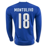 Italy 2016 MONTOLIVO LS Home Soccer Jersey