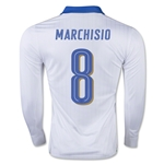 Italy 15/16 MARCHISIO LS Away Soccer Jersey