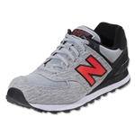 New Balance 574 Sweatshirt Shoe (Black/Light Grey)