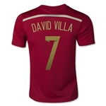 Espana 2014 DAVID VILLA Jersey de Futbol Local Juvenil
