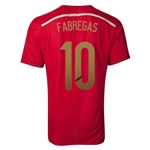 Spain 2014 FABREGAS Authentic Home Soccer Jersey