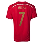 Espana 2014 MICHU Jersey de Futbol Local Autentico