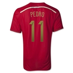 Spain 2014 PEDRO Authentic Home Soccer Jersey