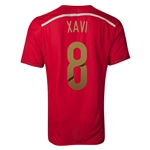Spain 2014 XAVI Authentic Home Soccer Jersey