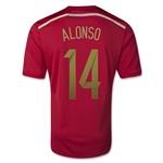 Spain 2014 ALONSO Home Soccer Jersey