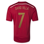 Espana 2014 DAVID VILLA Jersey de Futbol Local