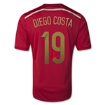 Spain 2014 DIEGO COSTA Home Soccer Jersey