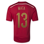 Spain 2014 MATA Home Soccer Jersey