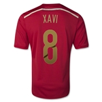 Spain 2014 XAVI Home Soccer Jersey