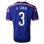 Japon 2014 G SAKAI Jersey de Futbol Local