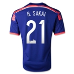 Japon 2014 H SAKAI Jersey de Futbol Local