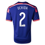 Japon 2014 UCHIDA Jersey de Futbol Local