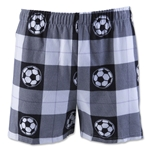 Soccer Ball Plaid Flannel Boxers