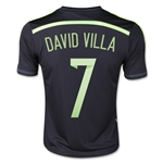 Spain 2014 DAVID VILLA Youth Away Soccer Jersey