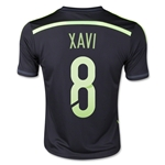 Spain 2014 XAVI Youth Away Soccer Jersey