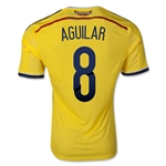 Colombia 2014 AGUILAR Authentic Home Soccer Jersey