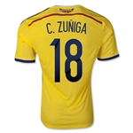 Colombia 2014 C. ZUNIGA Authentic Home Soccer Jersey