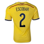 Colombia 2014 ESCOBAR Authentic Home Soccer Jersey