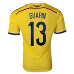 Colombia 2014 GUARIN Authentic Home Soccer Jersey
