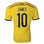 Colombia 2014 JAMES Authentic Home Soccer Jersey