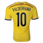 Colombia 2014 VALDERRAMA Authentic Home Soccer Jersey