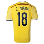 Colombia 2014 C. ZUNIGA Home Soccer Jersey