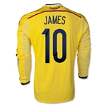 Colombia 2014 JAMES LS Home Soccer Jersey