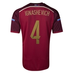 Russia 14/15 IGNASHEVICH Home Soccer Jersey
