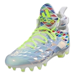 adidas Crazyquick Lax Mid Cleats (White/Solar Yellow)