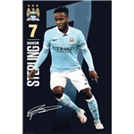 Manchester City Sterling Poster