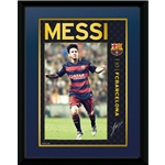 Barcelona 8x16 Messi Framed Poster