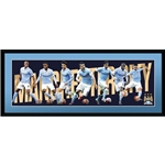 Manchester City 30x12 15/16 Players Panoramic Poster