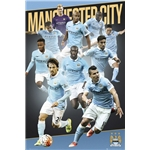 Manchester City 15/16 Players Poster