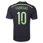 Spain 2014 FABREGAS Authentic Away Soccer Jersey