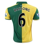 Norwich City 15/16 BASSONG Home Soccer Jersey
