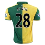 Norwich City 15/16 O'NEIL Home Soccer Jersey
