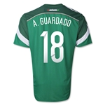 Mexico 2014 A. GUARDADO Jersey de Futbol Local Autentico