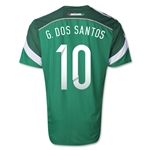 Mexico 2014 G. DOS SANTOS Authentic Home Soccer Jersey