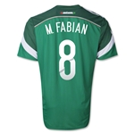 Mexico 2014 M. FABIAN Authentic Home Soccer Jersey