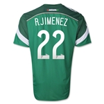 Mexico 2014 R. JIMENEZ Authentic Home Soccer Jersey