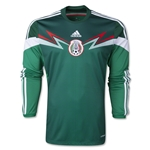 Mexico 2014 Jersey de Futbol Local Mangas Largas