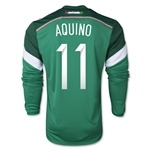Mexico 2014 AQUINO Jersey de Futbol Local Mangas Largas