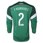 Mexico 2014 F RODRIGUEZ Jersey de Futbol Local Mangas Largas