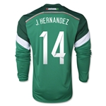 Mexico 2014 CHICHARITO Jersey de Futbol Local Mangas Largas