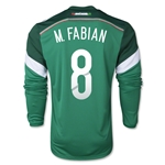 Mexico 2014 M. FABIAN LS Home Soccer Jersey