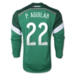 Mexico 2014 P AGUILAR Jersey de Futbol Local Mangas Largas